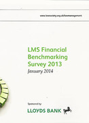 Cover of Law Management Section Financial Benchmarking Survey 2013