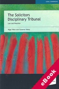 Cover of The Solicitors Disciplinary Tribunal: Law and Practice (eBook)