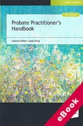 Cover of Probate Practitioner's Handbook (eBook)
