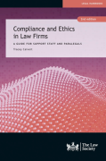 Cover of Compliance and Ethics in Law Firms: A Guide for Legal Support Staff