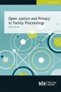 Cover of Open Justice and Privacy in Family Proceedings