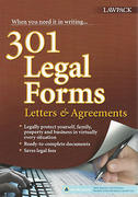 Cover of 301 Legal Forms Letters & Agreements