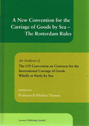 Cover of New Convention for the Carriage of Goods by Sea: The Rotterdam Rules