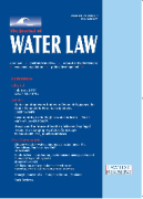 Cover of The Journal of Water Law