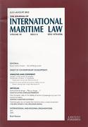 Cover of The Journal of International Maritime Law: Issues Only