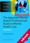 Cover of The Approved Mental Health Professional's Guide to Mental Health Law (eBook)