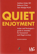 Cover of Quiet Enjoyment: Arden and Partington's Guide to Remedies for Harassment and Illegal Eviction