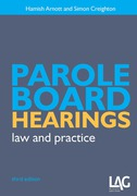 Cover of Parole Board Hearings: Law and Practice