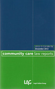 Cover of Community Care Law Reports