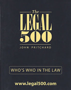 Cover of The Legal 500: Who's Who in the Law 2015