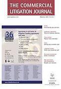 Cover of The Commercial Litigation Journal