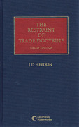 Cover of The Restraint of Trade Doctrine