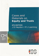 Cover of Cases and Materials on Equity and Trusts