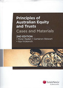 Cover of Principles of Australian Equity and Trusts: Cases and Materials