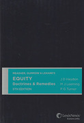 Cover of Meagher, Gummow & Lehane's Equity: Doctrines & Remedies