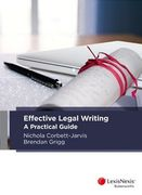 Cover of Effective Legal Writing: A Practical Guide