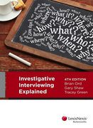 Cover of Investigative Interviewing Explained