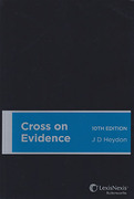 Cover of Cross on Evidence 10th Australian Edition