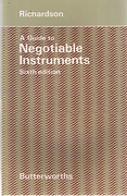 Cover of A Guide to Negotiable Instruments and the Bills of Exchange Acts
