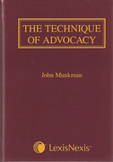 Cover of The Technique of Advocacy