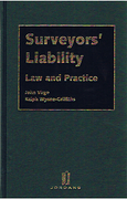Cover of Surveyors' Liability: Law and Practice