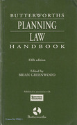 Cover of Butterworths Planning Law Handbook