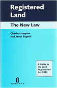 Cover of Registered Land: The New Law