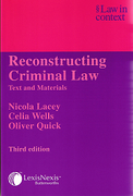 Cover of Law in Context: Reconstructing Criminal Law - Text and Materials