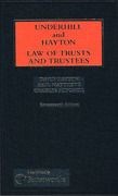 Cover of Underhill and Hayton: Law of Trusts and Trustees 17th ed