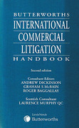 Cover of Butterworths International Commercial Litigation Handbook