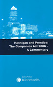 Cover of Hannigan and Prentice: The Companies Act 2006 - Commentary