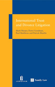 Cover of International Trust and Divorce Litigation