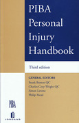 Cover of PIBA Personal Injury Handbook