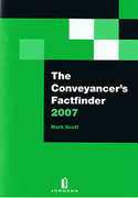 Cover of The Conveyancer's Factfinder 2007