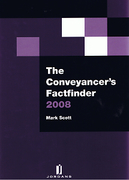 Cover of The Conveyancer's Factfinder 2008