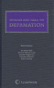 Cover of Duncan and Neill on Defamation