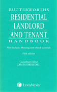 Cover of Butterworths Residential Landlord and Tenant Handbook