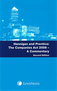 Cover of Hannigan and Prentice: The Companies Act 2006 - A Commentary