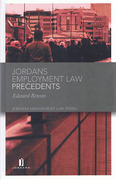 Cover of Jordan Publishing Employment Law Precedents