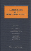 Cover of Carter-Ruck on Libel and Privacy