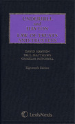 Cover of Underhill and Hayton: Law of Trusts and Trustees