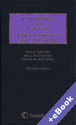 Cover of Underhill and Hayton: Law of Trusts and Trustees (Book & eBook Pack)