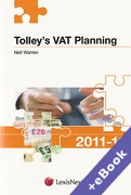 Cover of Tolley's VAT Planning 2011-2012 (Book & eBook Pack)