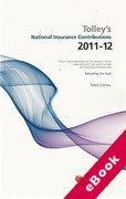 Cover of Tolley's National Insurance Contributions 2011 - 2012 (eBook)