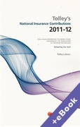 Cover of Tolley's National Insurance Contributions 2011 - 2012 (Book & eBook Pack)