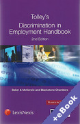 Cover of Tolley's Discrimination in Employment Handbook (Book & eBook Pack)
