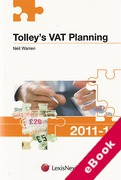 Cover of Tolley's VAT Planning 2011-2012 (eBook)