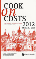 Cover of Cook on Costs 2012