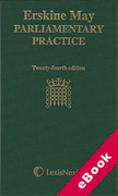 Cover of Erskine May Parliamentary Practice (eBook)