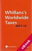 Cover of Whillans's Worldwide Taxes 2011-2012 (eBook)